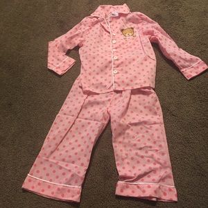 Other - Pink teddy bear pajama set size 2/3